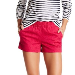 J. Crew Womens Floral Jacquard Pull-on Shorts Pink